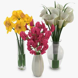 bouquets vase 02 3d max