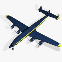3d model c-121j constellation blue angels
