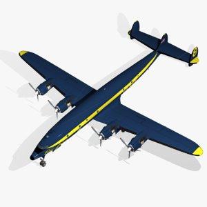 3d model c-121j constellation blue angels