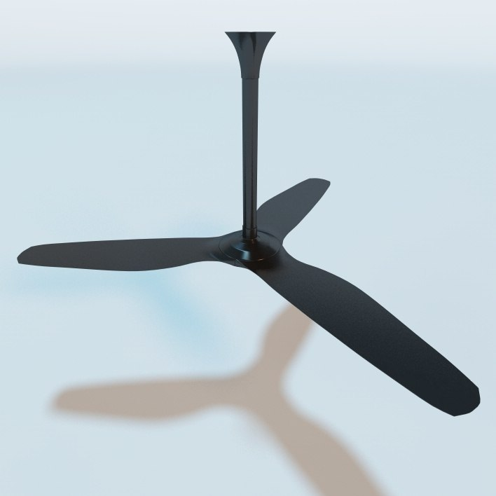 3d model haiku ceiling fan