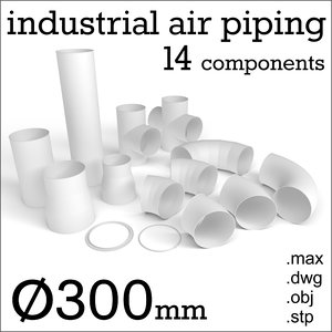 3d air piping mm model