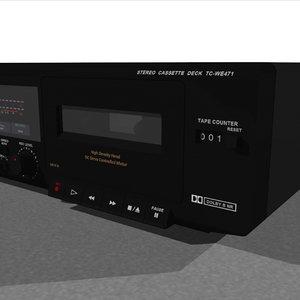 3d model cassette tape deck