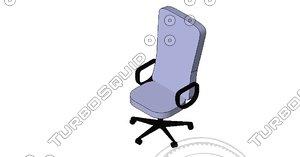 free executive chair revit 2012 3d model