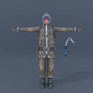 3d model of rigged t