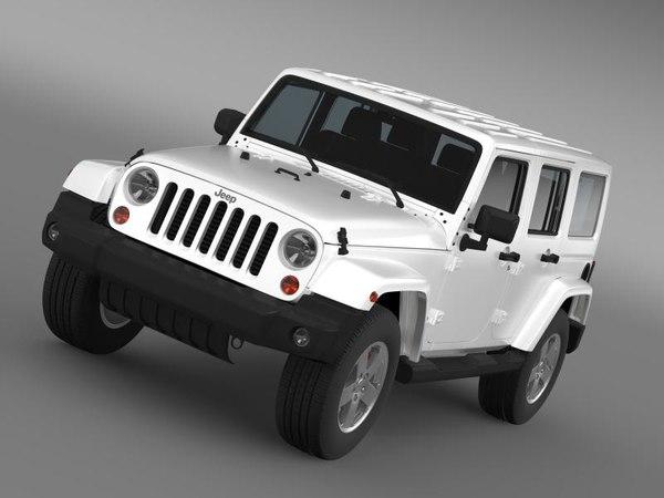 3d jeep wrangler unlimited sahara