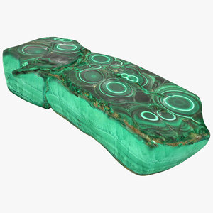 3d model malachite stone