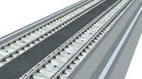 max gauge railway tracks nonbalasted