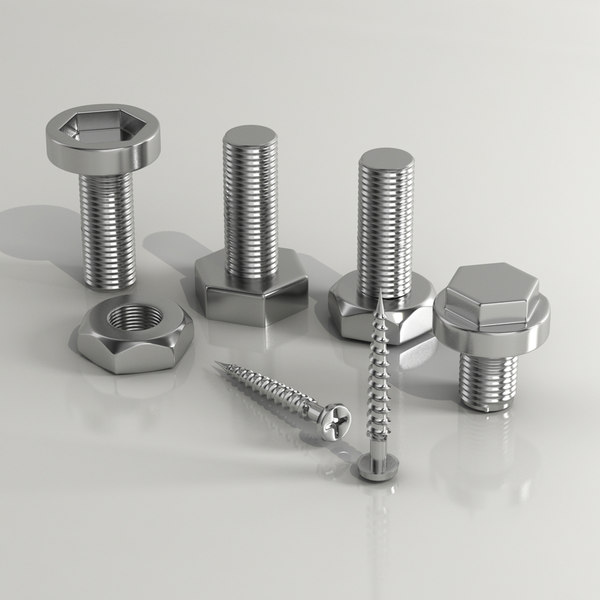 3d model nut nail