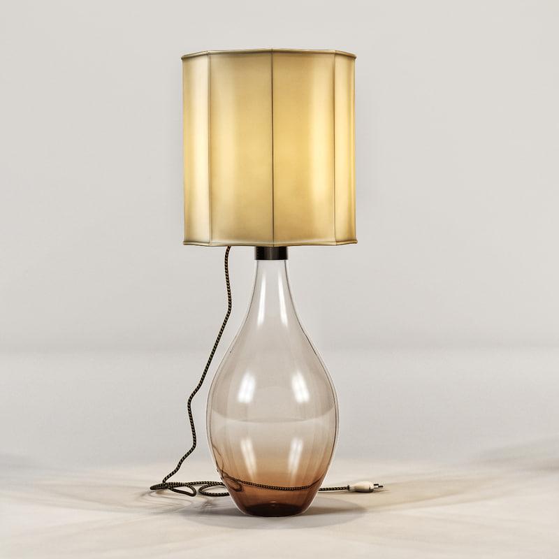 ochre - cherub lamp obj