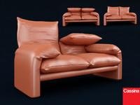 3d cassina sofa model
