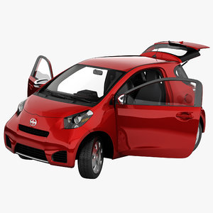 3d scion iq 2014 rigged car model