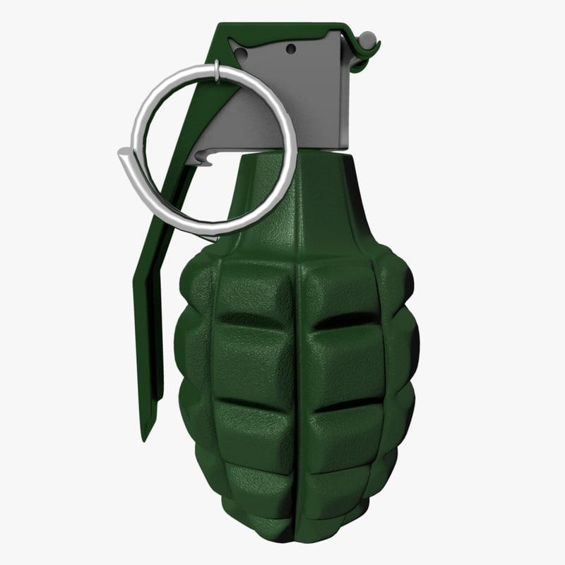 ii grenade 3d ma