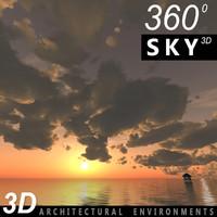Sky 3D Sunset 034