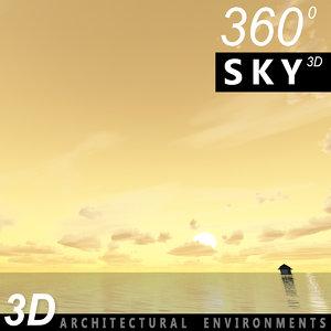 sky clouds 3d model