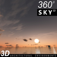 Sky 3D Sunset 060