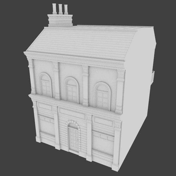 3d building store model