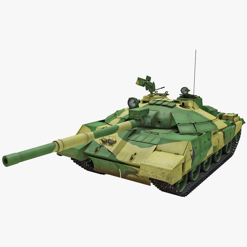 3d t-62m soviet main battle tank