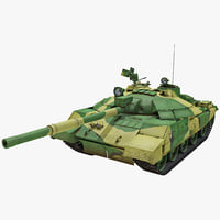 3d t-62m soviet main battle tank