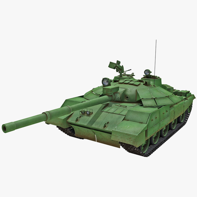 3d model t-62m soviet main battle tank