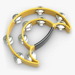 tambourine double 3d model