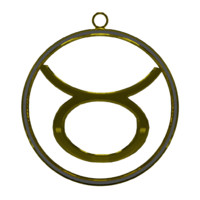 3d zodiac taurus symbol model