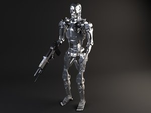 3d terminator t800 rigged model