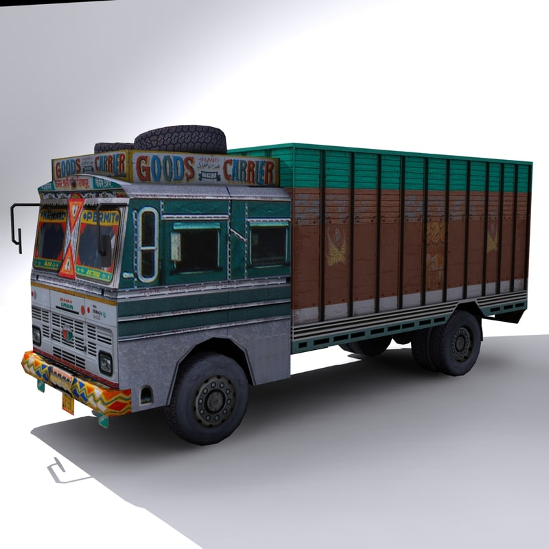 local indian truck 3d model