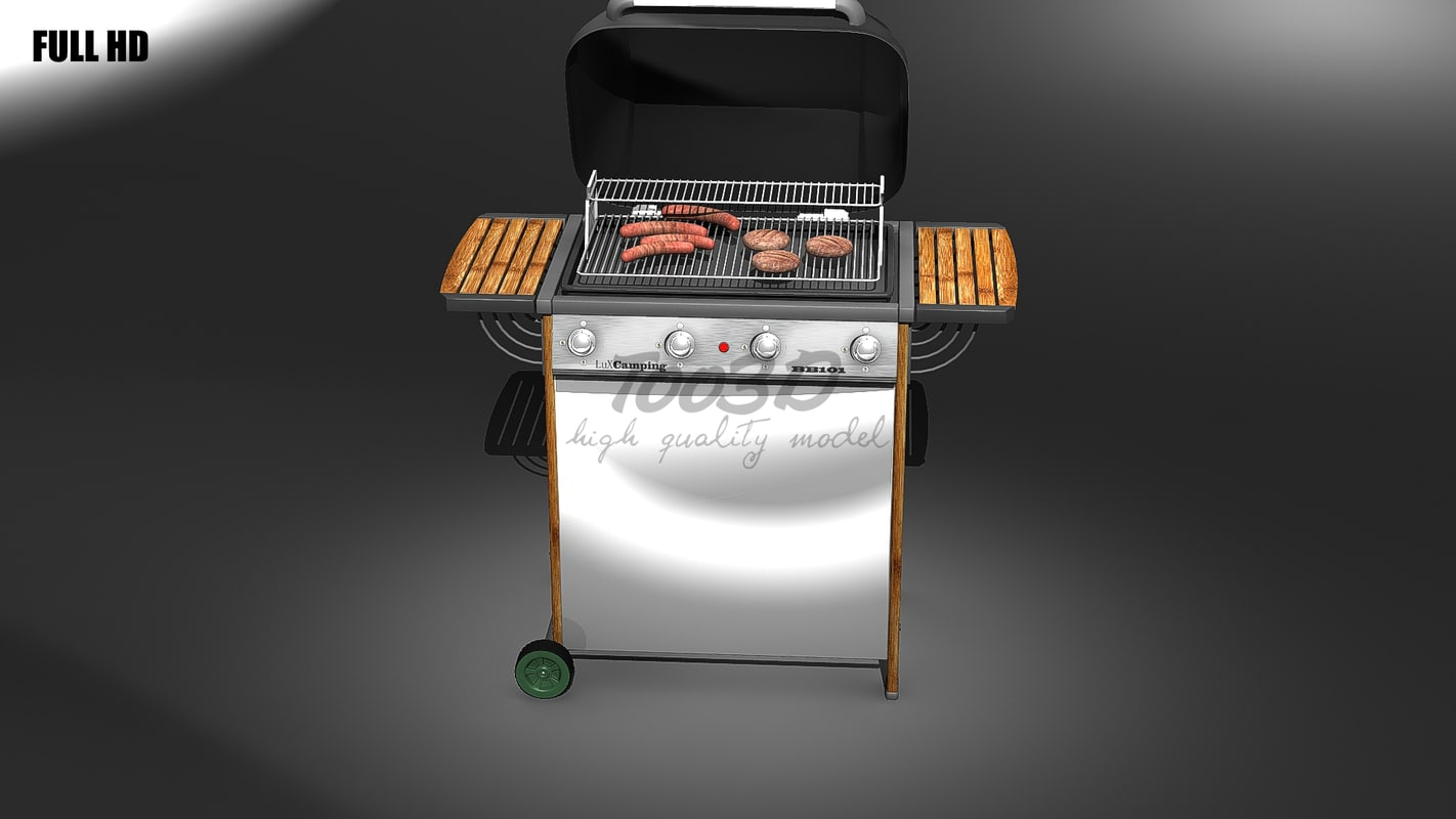 3ds max big barbecue