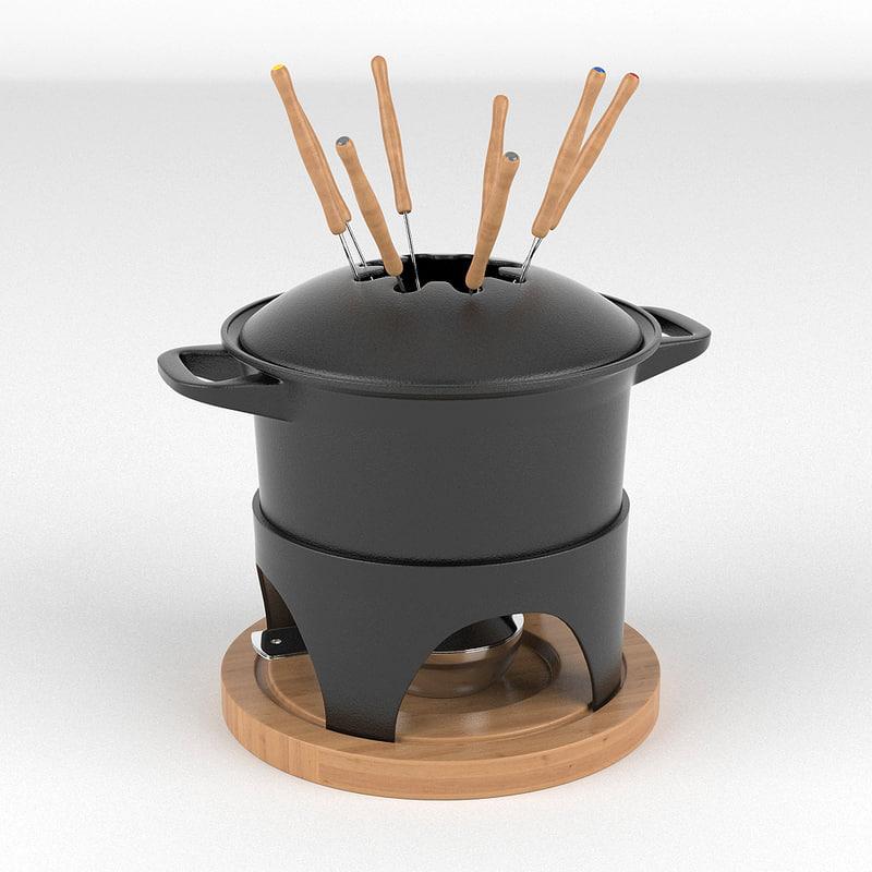 obj fondue set
