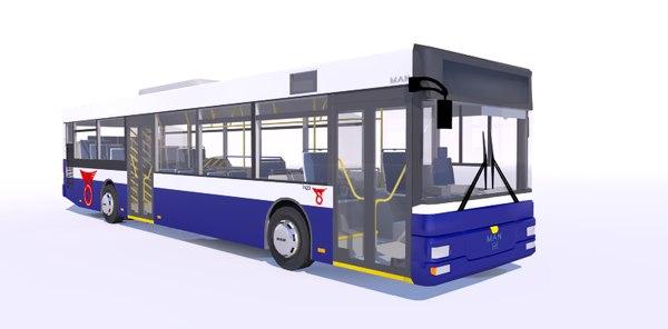 city bus man nl 3d 3ds