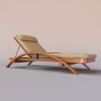 3d outdoor chaise
