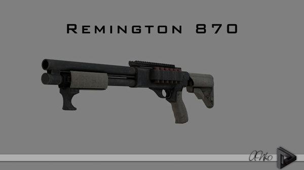 3d american remington 870