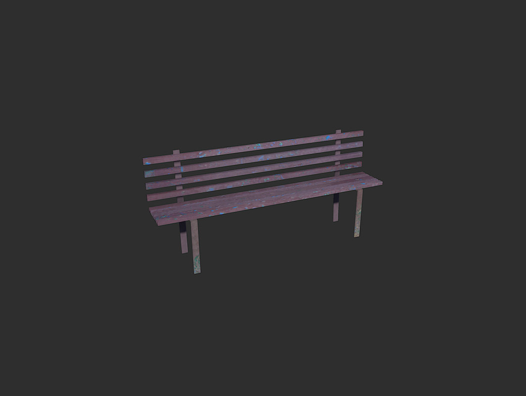 3d max dirty park bench