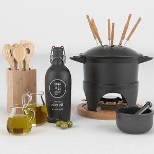 obj cooking utensils