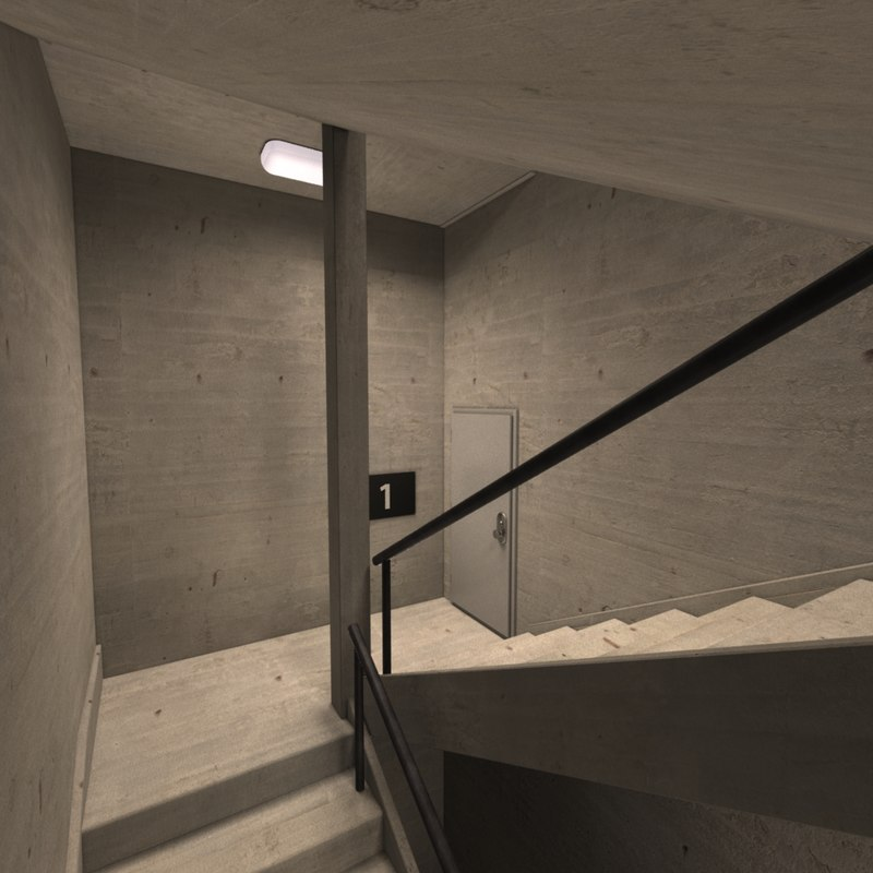 stairwell 3d max