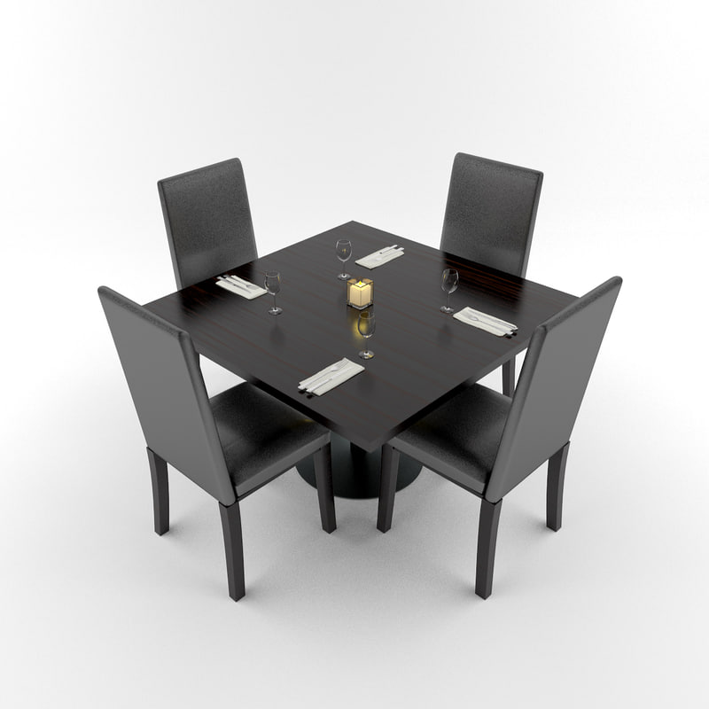 3d model restaurant table