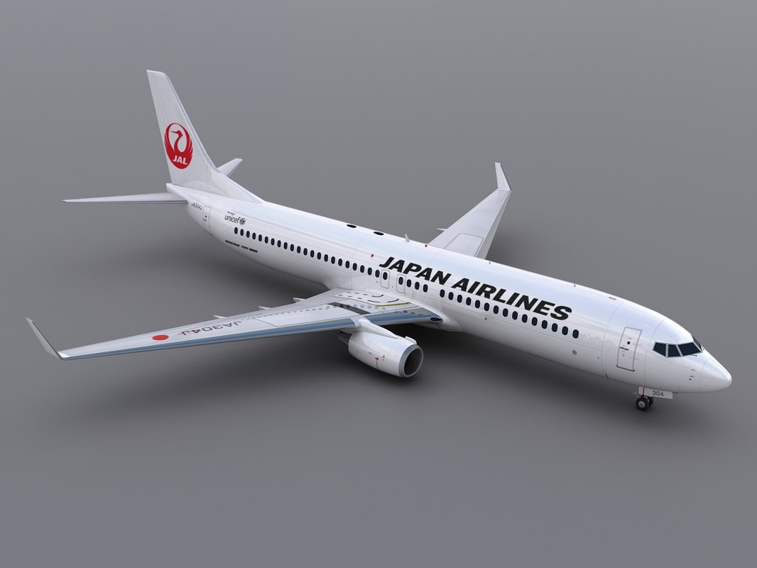 3d model aircraft japan airlines