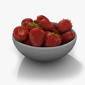 3d model strawberry good