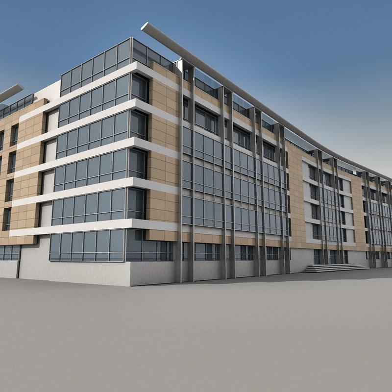 3d model modern building