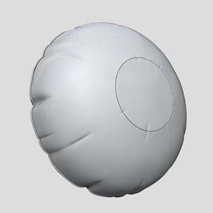 airbag 3d obj