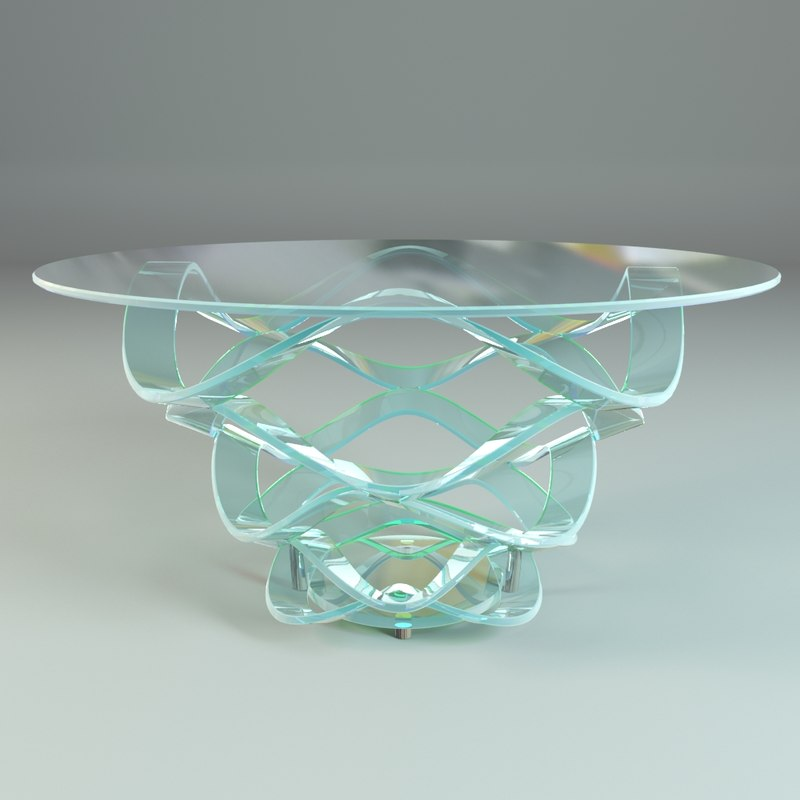 glass dining table reflex 3d x