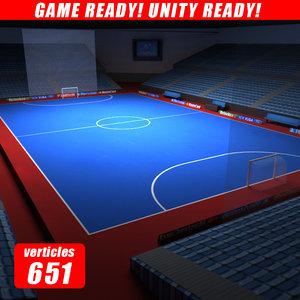 3ds max futsal arena