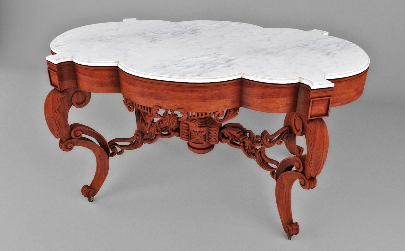 3d table geridon classic model
