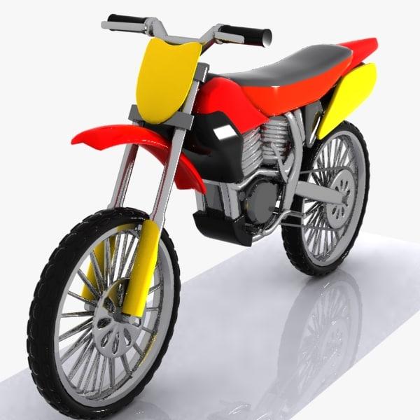 cartoon motocross car 3d max