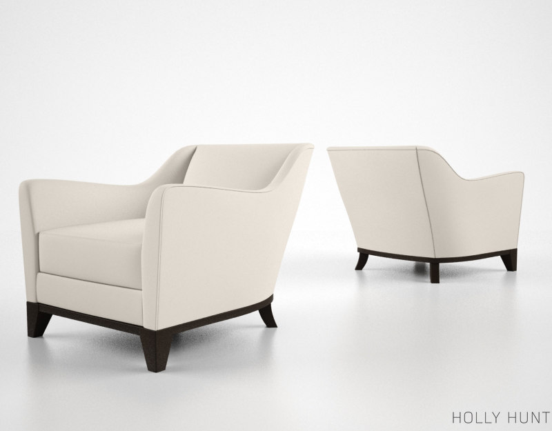 holly hunt beau lounge chair 3d model