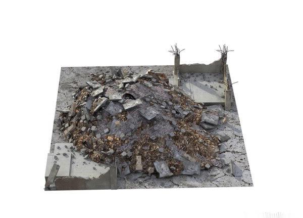 rubble junk pile 3d fbx