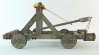 medieval catapult 3d model
