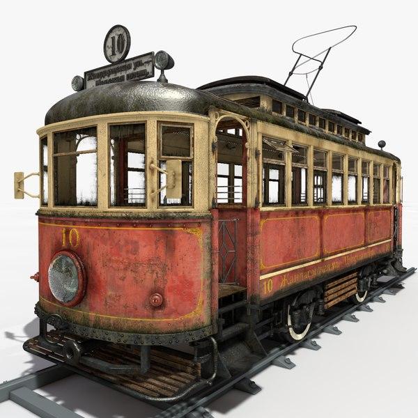 old tram 3d model