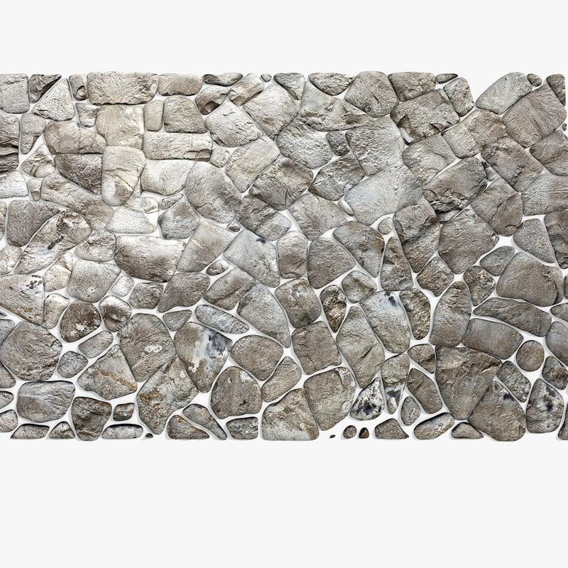 stone block pavement 3d model