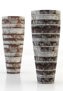 tall vases interior 3d model